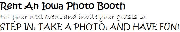 Iowa Photo Booth Rental
